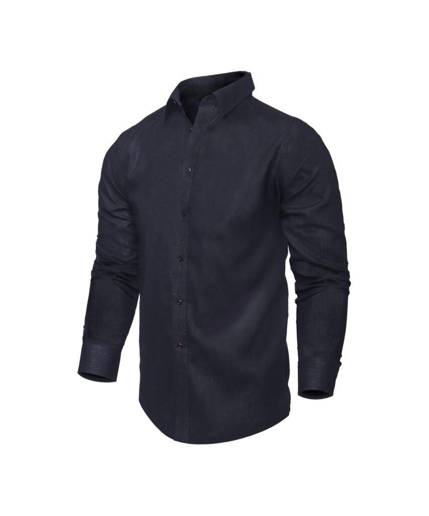 Camisa Negra Manga Larga para playa