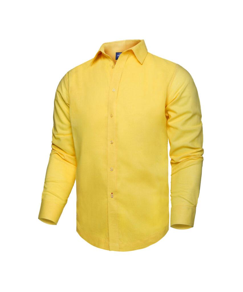 Camisa de Playa manga larga Amarilla