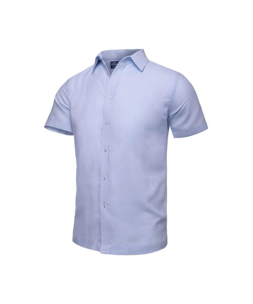 Camisa para playa Azul manga corta
